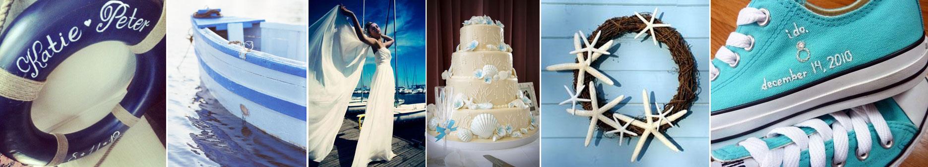poradnik ślubny wedding planner'ki - kolor morski na ślub inspiracje