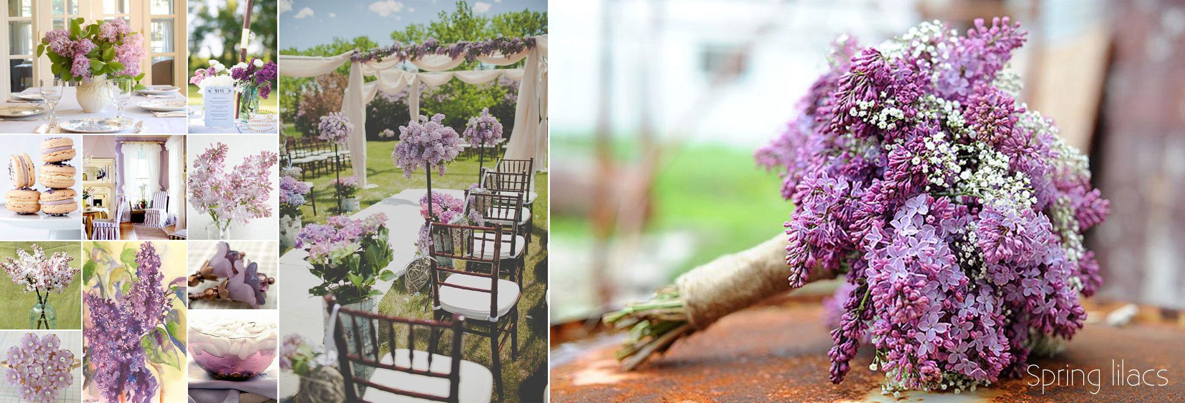 wiosenne dekoracje z bzu - poradnik ślubny