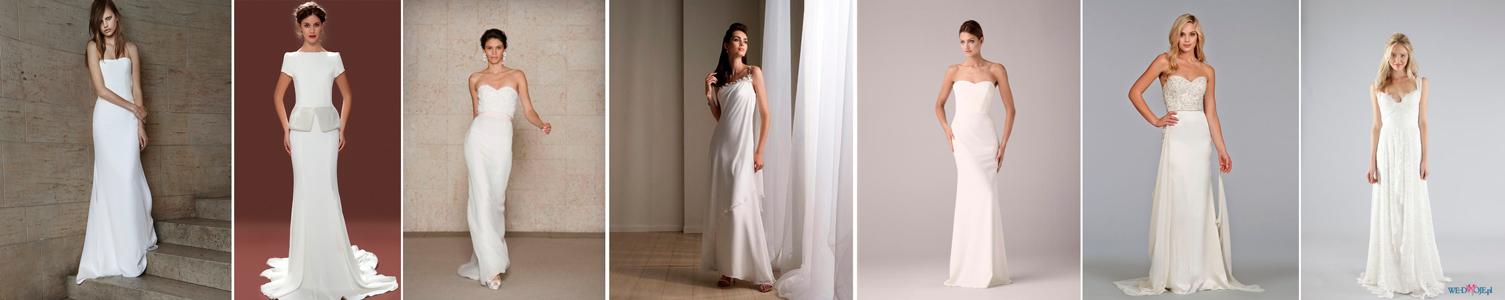 poradnik ślubny - prosta suknia ślubna idealna dla wysokich i szczuły Panien Młodych