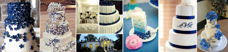 poradnik ślubny wedding planner'ki - tort niebieski ślub