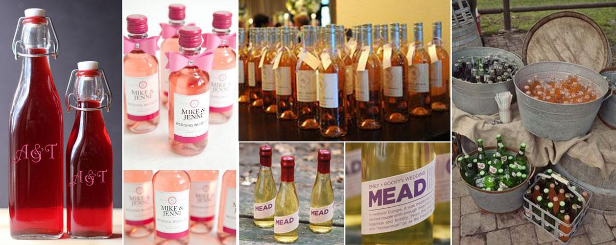 upominek dla gości wselenych - domowe wino