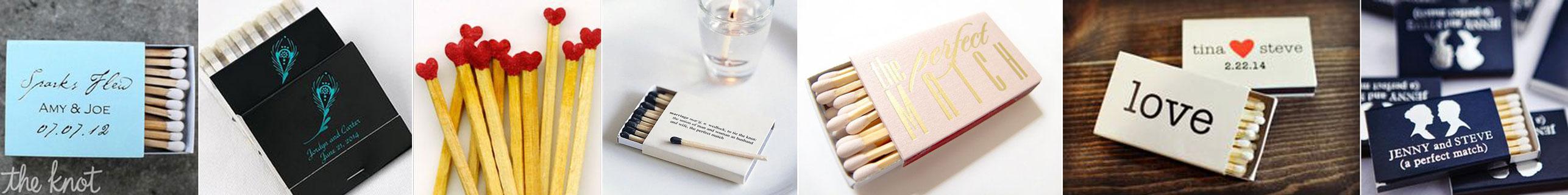 upominek dla gości wselenych - zapałki