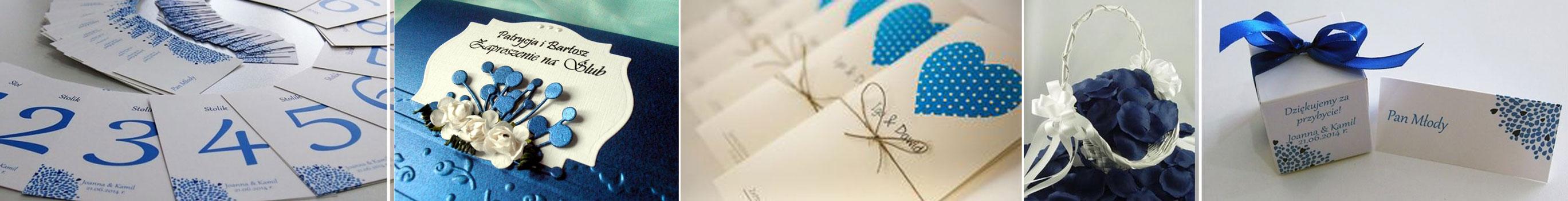 poradnik ślubny wedding planner'ki - zaproszenia na ślub niebieskie