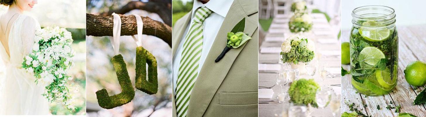 poradnik ślubny - jasno zielone inspiracje ślubne
