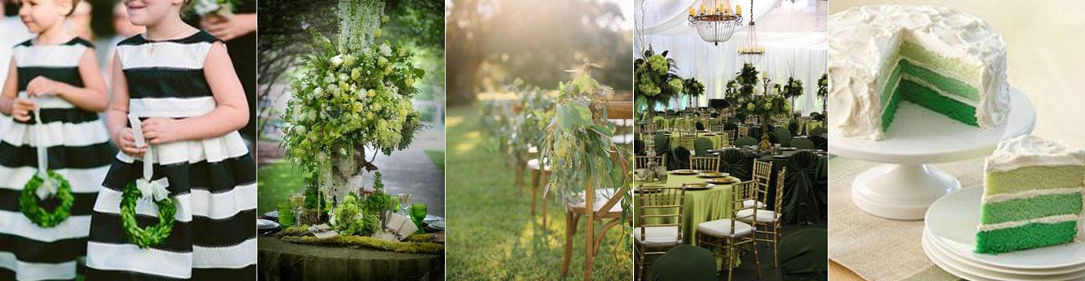poradnik ślubny - zielone dekoracje na ślub w plenerze