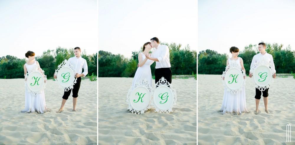 zielony plener ślubny dęblin
