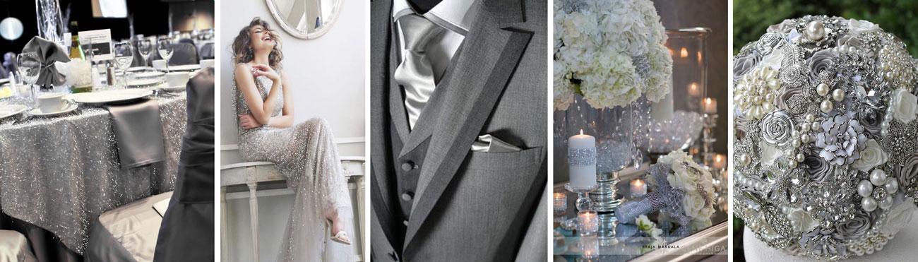 Srebrny kolor na ślub - poradnik ślubny wedding planer