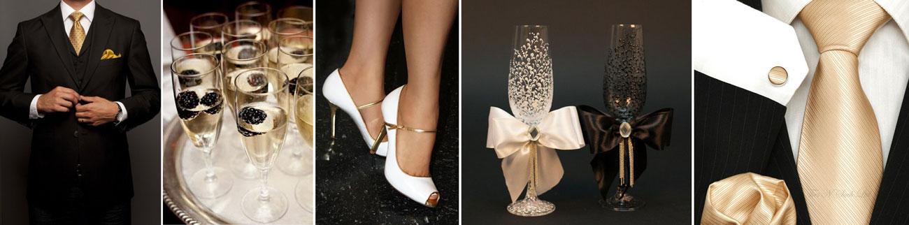 złoto biały motyw na ślub - poradnik ślubny wedding planer