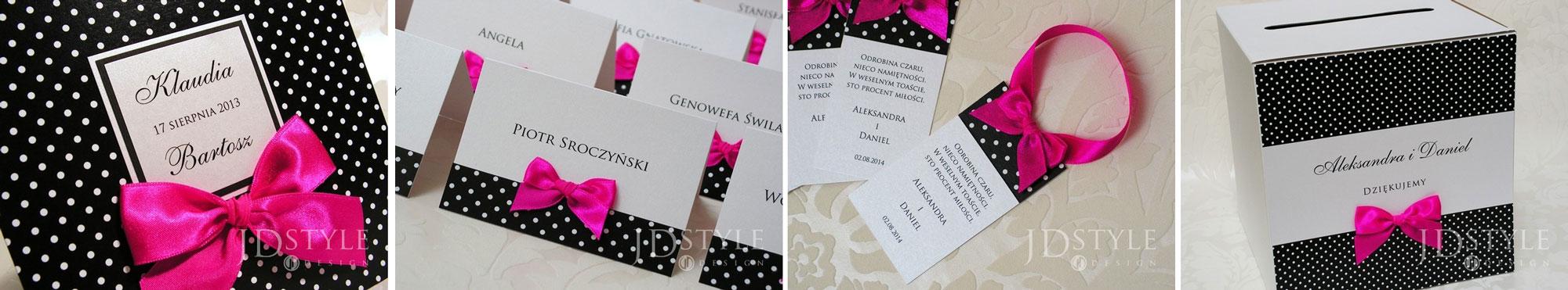 zaproszenia ślubne w kolorze fuksji - poradnik ślubny wedding planner
