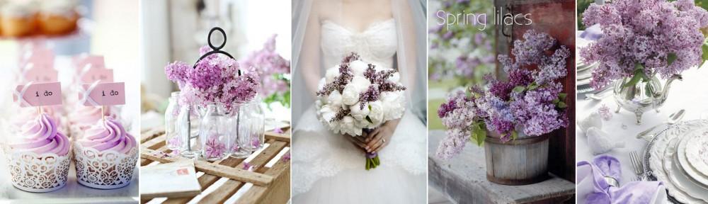 Ślub z motywem wiosennego bzu