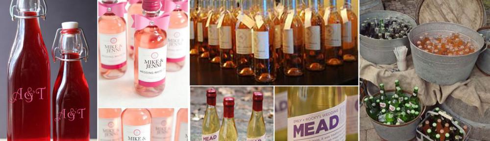 wino jako upominek dla gości weselnych