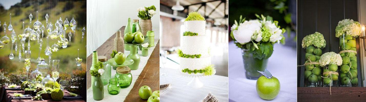 Ślub w kolorze nadziei – zielone dekoracje weselne