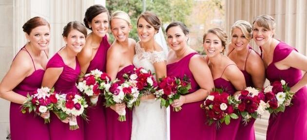 Elegancki ślub i wesele w odcieniach fuksji i amarantu